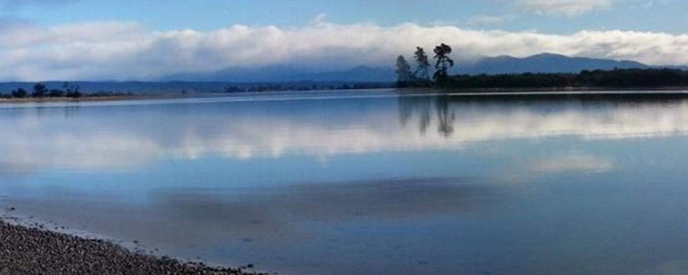 View of still lake